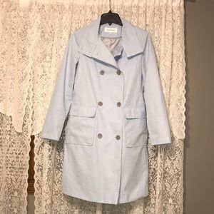 Baby Blue Calvin Klein Double-Breasted Trench coat